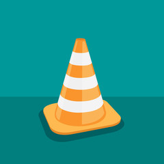 Traffic cone - vector illustration