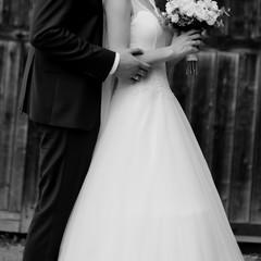 classical Wedding Photo, newlyweds couple