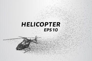 The helicopter of the particles. The helicopter breaks down into small molecules.