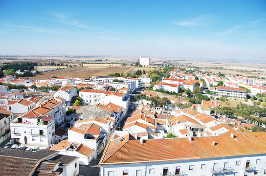 View of the town Beja in Portugal