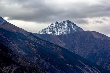 горы, ущелье, вершина