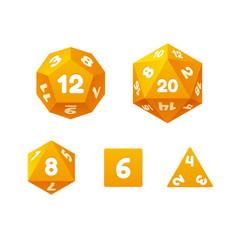 Game dice set.