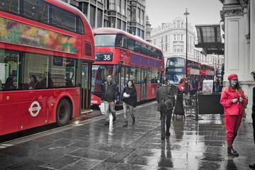 Foto op Aluminium Londen rode bus London