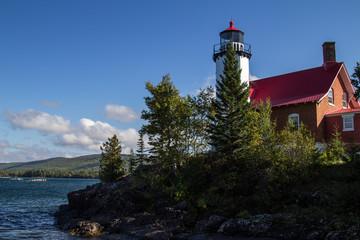 Eagle Harbor Lighthouse. The Eagle Harbor Lighthouse on the shores of Lake Superior in Michigan's Keweenaw Peninsula.