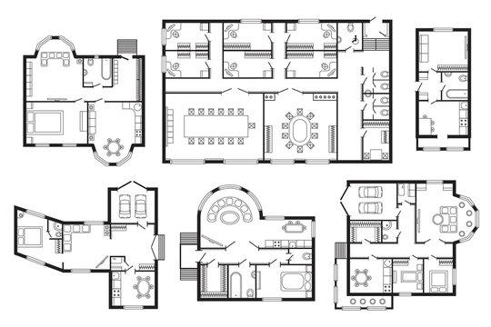 Architectural plan vector illustration.