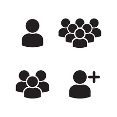 User Profile Group Icons Set