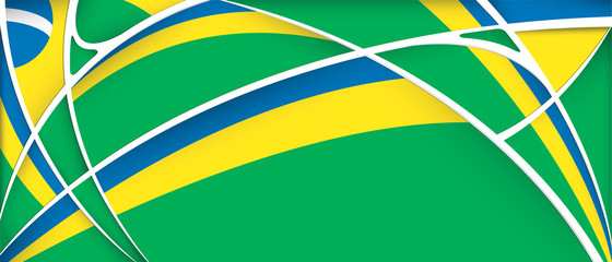 Abstract background with colors of Brazil flag - Vector image