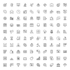 Line icons set. Business and finances