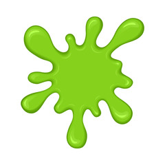 Green slime splash blot