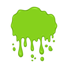 Vector illustration - green slime drips.