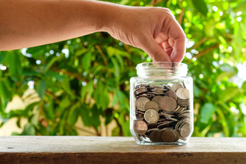 business finance. save money for investment concept money in the
