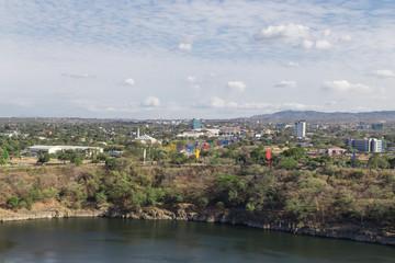 Managua, Nicaragua, aerial view