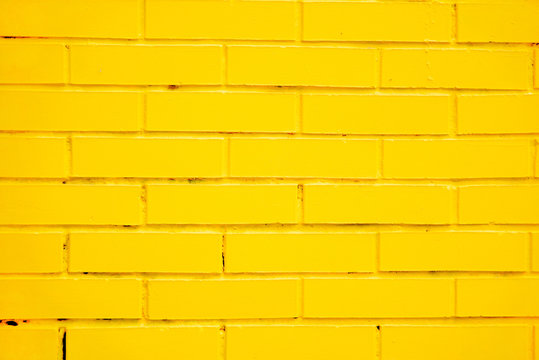 yellow brick wall as a background