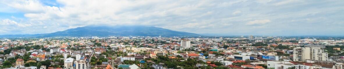 Cityscape Panorama of Chiang Mai