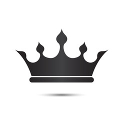 Crown symbol with black Color isolate on White Background ,My de