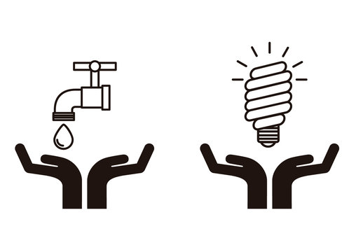Hand and Ecology Icon Set