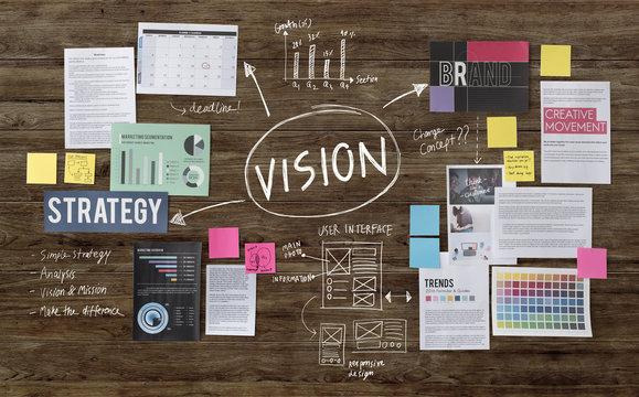 Vision Inspiration Motivation Objective Planning Concept