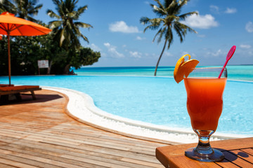 cocktail with a heavenly view
