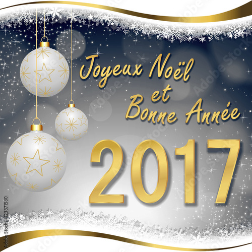 Carte de v ux joyeux no l et bonne ann e 2017 photo libre de droits sur la banque d 39 images - Carte voeux gratuite 2017 ...