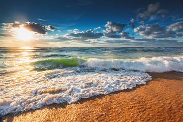 Fotobehang Nachtblauw Sunrise Wave