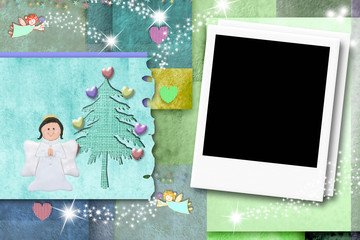 Christmas kid photo frame card