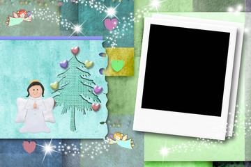 Christmas kid photo frame card