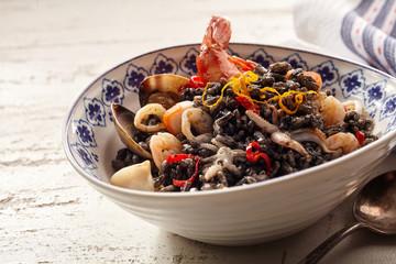 Langoustine seafood dish in bowl