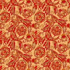 Seamless vintage baroque pattern. Vector background