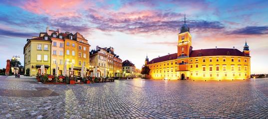 Warsaw Old Town, Plaz Zamkowy, Poland, nobody
