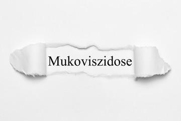 Mukoviszidose auf weißen gerissenen Papier
