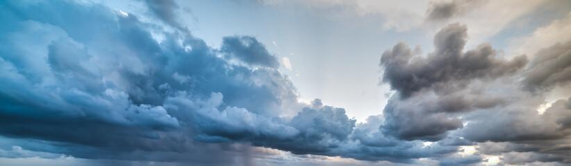 Fotobehang - overcast grey sky at dusk