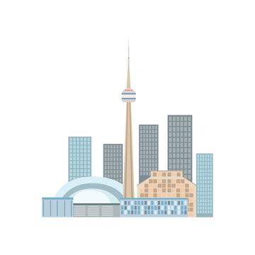 Toronto Skyline View As A National Canadian Culture Symbol