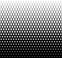 Rounded lines halftone seamless pattern