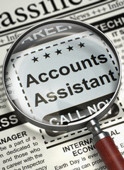 We are Hiring Accounts Assistant. 3D.