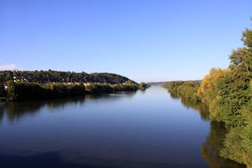 Main Flusslandschaft Unterfranken Bayern