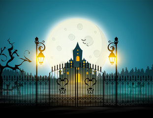 Halloween poster / card / background