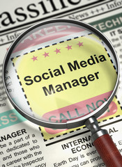 Social Media Manager Wanted. 3D.