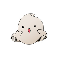 Cute ghost characters isolated on the white background. Halloween party hand drawn sketch. Fun colorful illustration for t-shirt print, banner, flyer, poster design