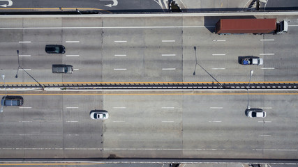 Aerial view of highway in Thailand