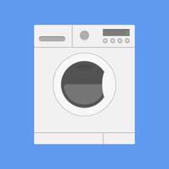 Washing machine on isolated background.
