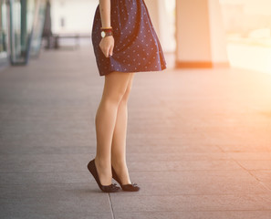 Beautiful, women's legs in shoes.