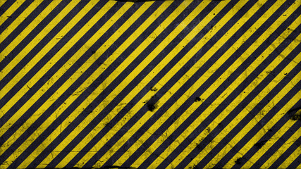 Black and yellow diagonal lines - warning lines - 16:9 ration