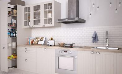 Scandinavian white kitchen