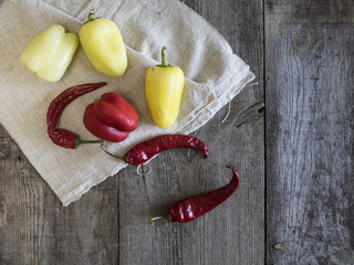 bell and hot pepper