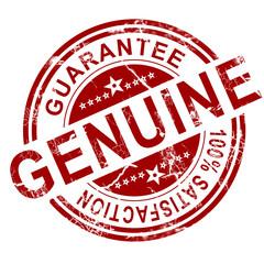 Red genuine stamp