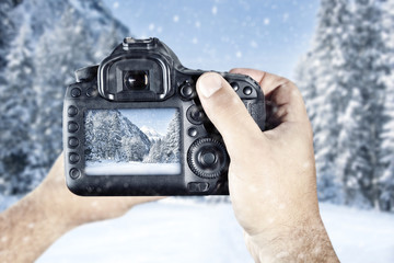 camera and winter time