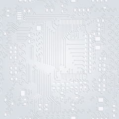 Seamless background of gray in the form of printed circuit board
