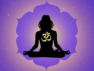 illustration of yoga