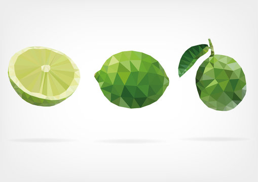 Low Poly Green Lime