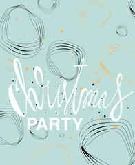 Christmas party - lettering